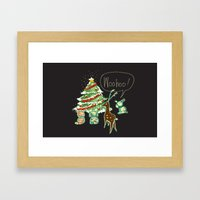 Woohoo Christmas! Framed Art Print