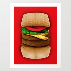 Junk Food Art Print