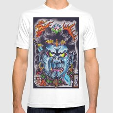 fudo White Mens Fitted Tee SMALL