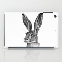 Cute Hare portrait G126 iPad Case