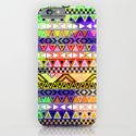 Blue Yellow Bright Andes Abstract Aztec Pattern iPhone & iPod Case