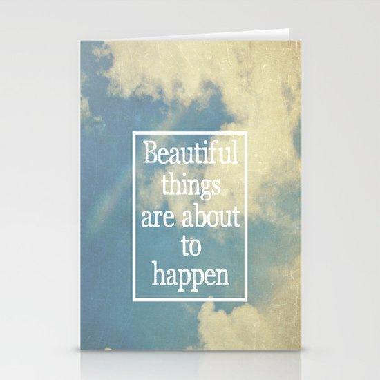 Beautiful Things  Stationery Card
