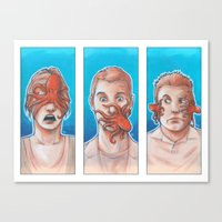 3 Wise Octopuses Canvas Print