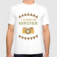 I'm not a hipster camera blue Mens Fitted Tee White SMALL