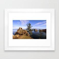 Stone and Pine Framed Art Print