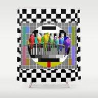 Testing The Rainbow Budg… Shower Curtain