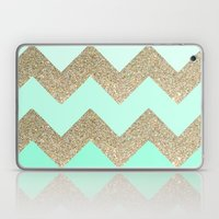 Mint Glitter Laptop & iPad Skin
