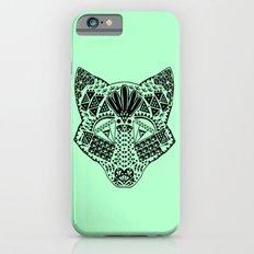 Mint Wolf Head iPhone 6s Slim Case
