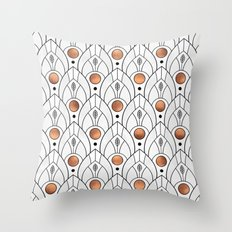 Art Deco Leaves / Version 2 Throw Pillow