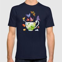Butterfly Tea Mens Fitted Tee Navy SMALL
