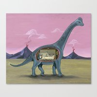 Home Sweet Brachiosaurus Canvas Print