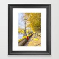 River Thames Path Waterc… Framed Art Print