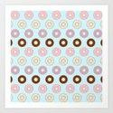 Doughnut Polka Art Print