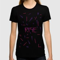 Rise No.2 - White Womens Fitted Tee Black SMALL