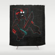 Goggles Shower Curtain