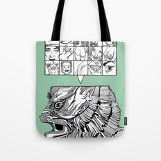 the man the monster Tote Bag