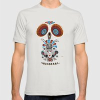 Mexican Owl Mens Fitted Tee Silver SMALL