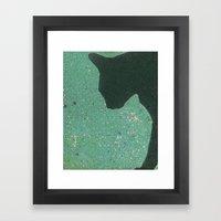 Kitty Mosaic Framed Art Print