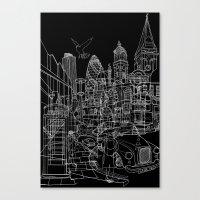 London! Dark T-shirt version Canvas Print