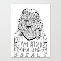 BIG DEAL Canvas Print