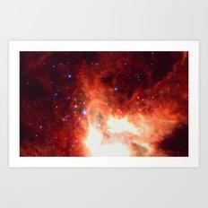 Burning Star Art Print