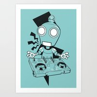Robot DJ Art Print