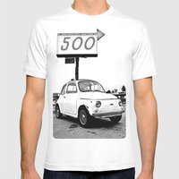 Fiat 500 Forever Mens Fitted Tee White SMALL
