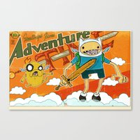 Urbnpop Greetings from Adventure Time Canvas Print