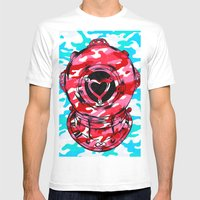Strawberry Mens Fitted Tee White SMALL