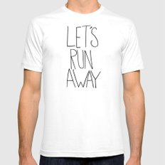 Let's Run Away: Columbia Gorge, Oregon SMALL Mens Fitted Tee White