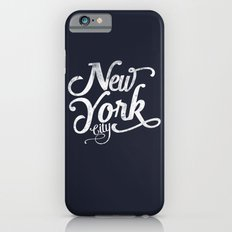 New York City vintage typography - navy iPhone 6s Slim Case