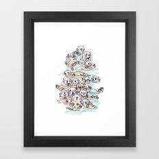 Wild family series - Otters Framed Art Print