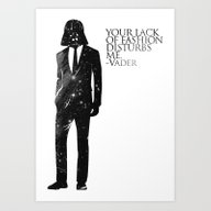 Art Print featuring The Lord Of Fashion by H A P P Y J O Y