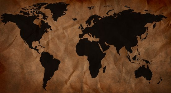Old Wrinkled World Map Art Print
