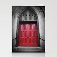 Red Door Black And White… Stationery Cards