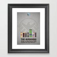 The Avengers - minimal poster Framed Art Print