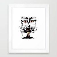 spooky tree Framed Art Print