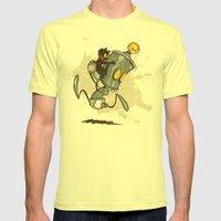 Ahhhh! Run Faster!  Mens Fitted Tee Lemon SMALL