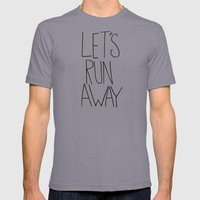Let's Run Away: Columbia… Mens Fitted Tee Slate SMALL