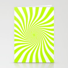 Swirl (Lime/White) Stationery Cards