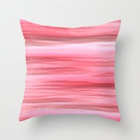 Wet And Pink Throw Pillow