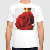Rose Mens Fitted Tee White SMALL