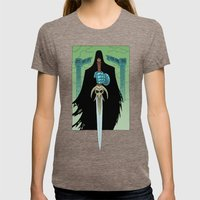 Death Bringer Womens Fitted Tee Tri-Coffee SMALL