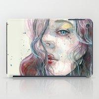 Sleepy violet, watercolor iPad Case
