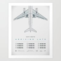 Arriving Late - Tour Pos… Art Print