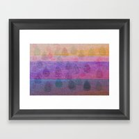 Pink Leaves Framed Art Print