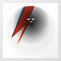 Round Bowie Art Print