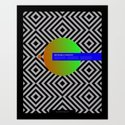 Impossible Symmetry - Circle Art Print