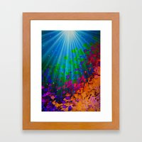 UNDER THE SEA Bold Color… Framed Art Print
