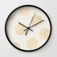 Gold Polka Dots Wall Clock